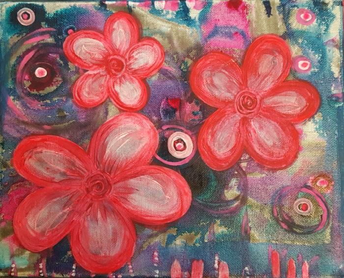 Blooming Three painting by Kristy Lewellen