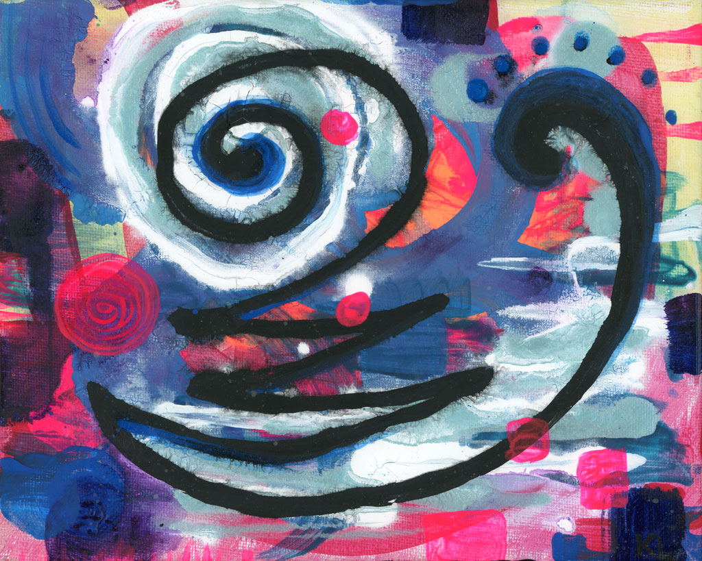 Curves painting by Kristy Lewellen
