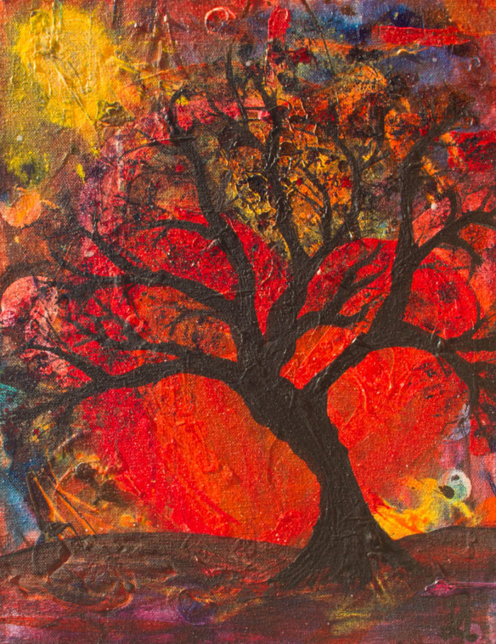 Desire painting by Kristy Lewellen