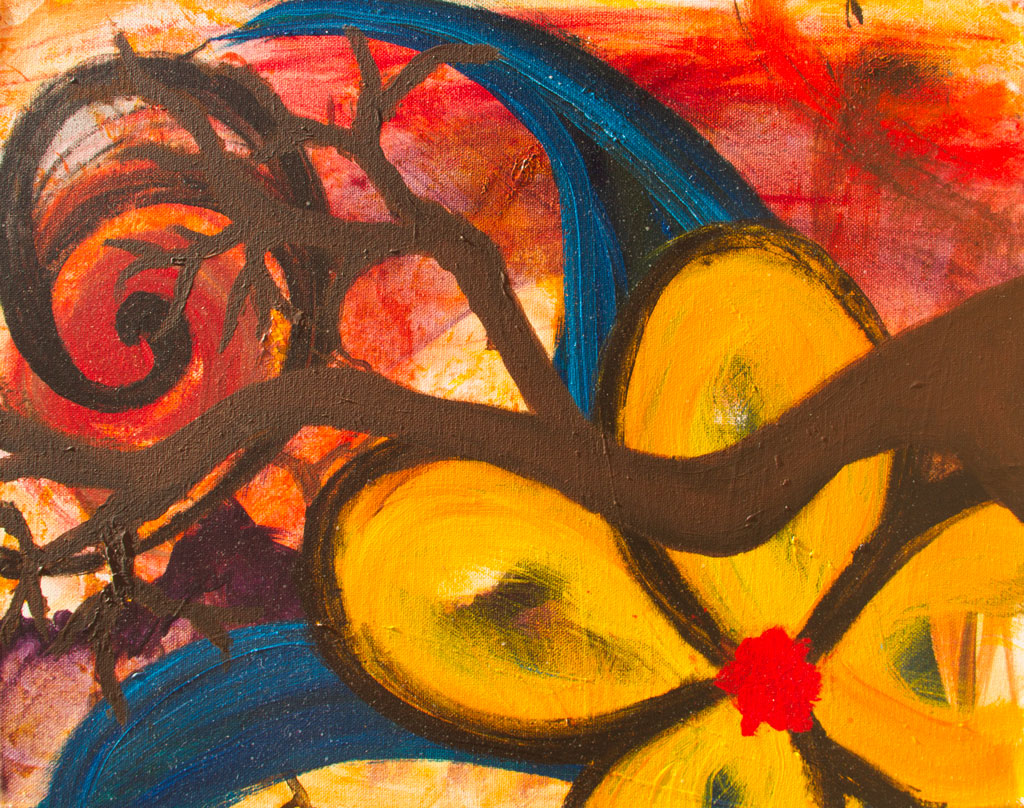 Lemon Zest painting by Kristy Lewellen
