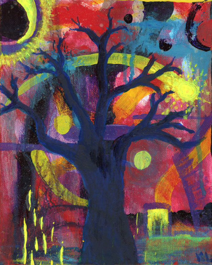 Lonely Night painting by Kristy Lewellen