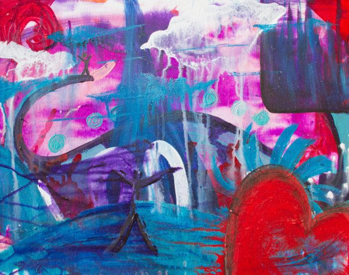 Longing painting by Kristy Lewellen