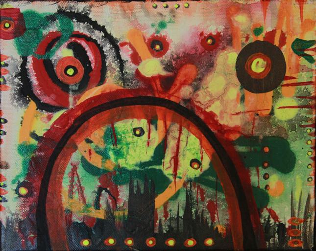 Night Bridge painting by Kristy Lewellen