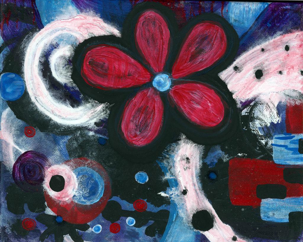 One Bloom painting by Kristy Lewellen