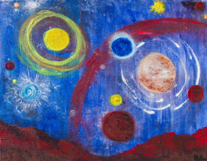 Red Planet painting by Kristy Lewellen