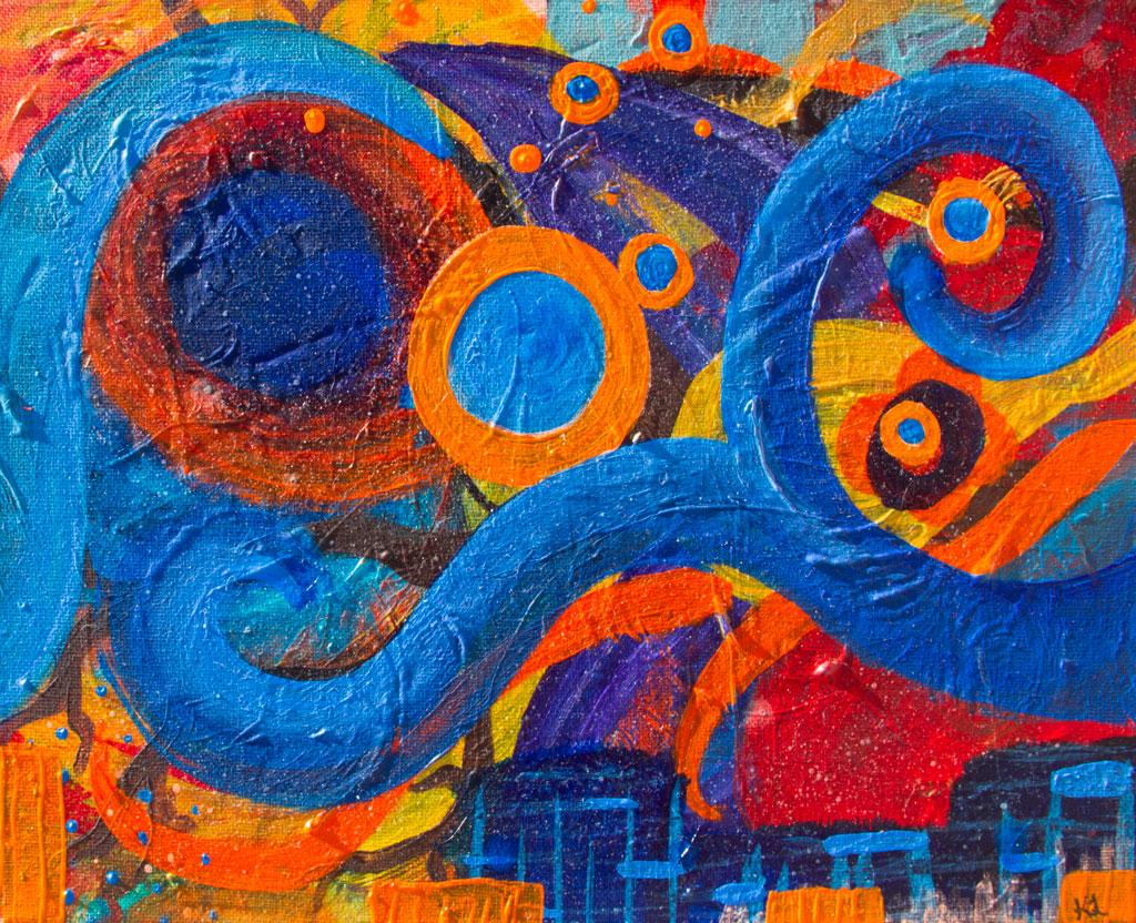 Release painting by Kristy Lewellen