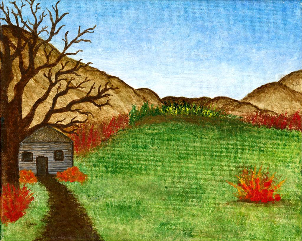 Retreat painting by Kristy Lewellen