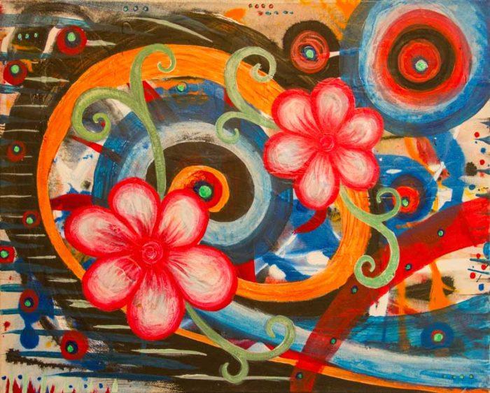 Blooming Painting by Artist Kristy Lewellen