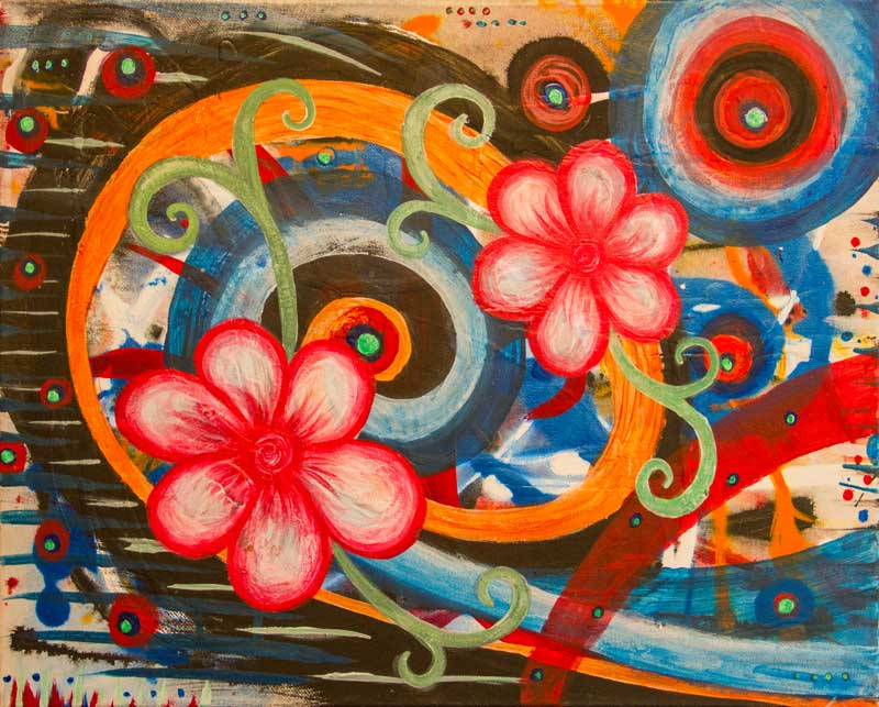 Blooming Painting by Artist Kristy Lewellen